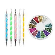 i b n 2 way marbleizing dotting pen set for nail art with nail art