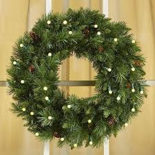 cordless led wreath at brookstone buy now