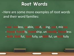 root word prefix and suffix