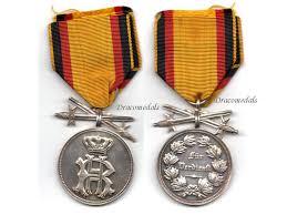 germany ww1 silver medal merit swords princely reuss