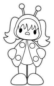 ladybug costume halloween coloring pages hallowen coloring