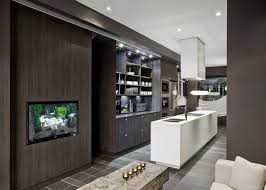 kitchens and interiors a s kitchen and not just because there s a tv flushed into