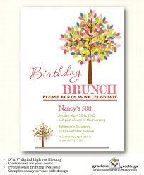birthday brunch invitation birthday party invitation milestone 30th 40th 50th