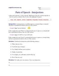 interjections worksheet the best and most comprehensive worksheets