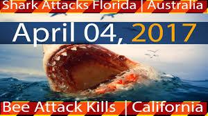 Florida Shark Attack Map by 04 04 2017 Multiple Shark Attacks Florida U0026 Australia Bee