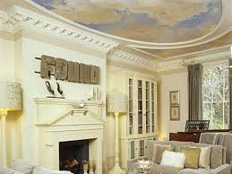 Plaster Ceiling Cornice Design Decoration Magnificent Ceiling With Beautiful Murals Plus