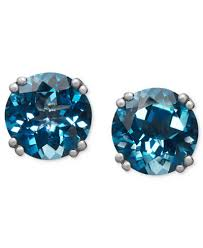 blue topaz stud earrings 14k white gold earrings london blue topaz stud earrings 4 1 2 ct