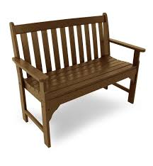 Patio Loveseat Glider 5 U0027 Poly Wood Vineyard Outdoor Bench Benches U0026 Chairs