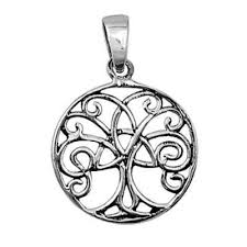 sterling silver tree of celtic infinity pendant blades and