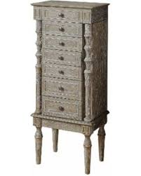 jewelry armoire oak finish hot sale acme furniture taline weathered oak finish wood jewelry