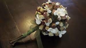 wedding flowers cork wine cork bouquet neethlingshof