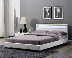 Led Bed Frame King Size Bed Frame Led Headboard Light And Mattress