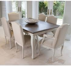 French Contemporary  Shabby Chic Dining Tables Crown French - French dining room sets