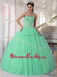 green quinceanera dresses apple green gown sweetheart floor length tulle beading