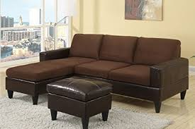 Brown Sectional Sofa With Chaise Amazon Com Chocolate Brown Microfiber Small Sectional Sofa With