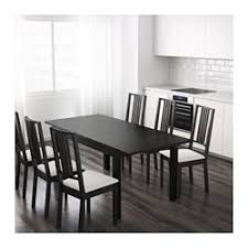 ikea black brown dining table bjursta extendable table ikea