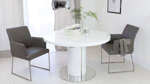 White Gloss Dining Room Table by White Gloss Round Kitchen Table And Chairs Starrkingschool