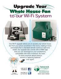 Whole House Ventilation Unit Tamarack Wi Fi Upgrade For Hv1600
