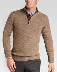 sweater mens joseph abboud rust mock neck sweater s modern fit s