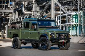 range rover truck conversion this corvette powered land rover defender 130 pickup is what
