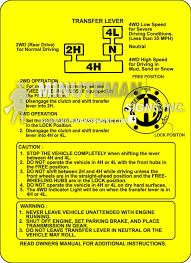 amazon com suzuki samurai 4wd instruction card transfer case