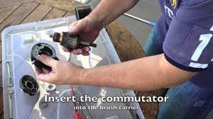 starter motor brush replacement youtube