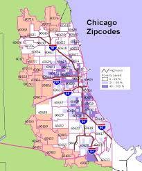 chicago zip code map interactive maps
