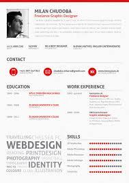 graphic design resume 20 cool resume cv designs milan creative and inspiration