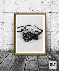 vintage canon camera print photo camera print photography