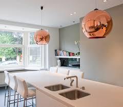 koperen hanglamp tom dixon keuken verlichting pinterest