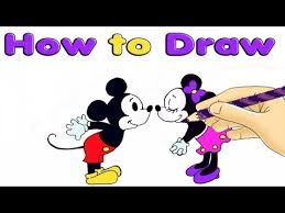 draw mickey minnie mouse kids easy video baby