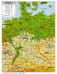 geographical map of germany physical map of germany by bestcountryreports