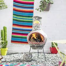 Extra Large Clay Chiminea Clay Chiminea Barbecuing U0026 Outdoor Heating Ebay