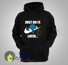 snorlax pokemon just do it later hoodie mpcteehouse