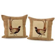 fantail pheasant tartan pillows pillows home decor accessories