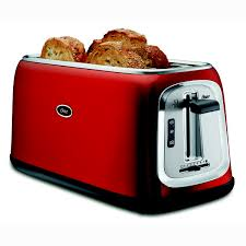 Toasters Made In America Oster 4 Slice Long Slot Toaster Red On Oster Com