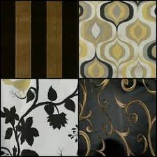 Black And Gold Curtain Fabric Black And Gold Harlequin Drapery Fabric Drapery Fabric By The