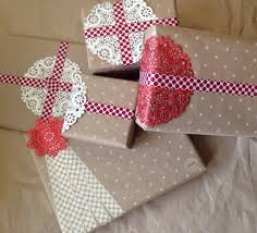diy craft paper christmas wrapping with polka dots craft paper