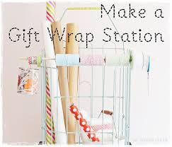 wrapping station ideas two shades of pink a portable gift wrap station 3 simple ideas