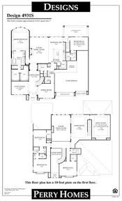 homes floor plans with pictures perry homes floor plan for 4925w floor plans