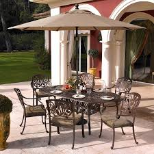 4 Seater Patio Furniture Set - hartman amalfi 6 seater oval set in bronze with floral cushions