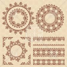 brown vintage ornaments and frames royalty free vector clip