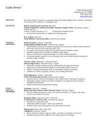 sample secondary teacher resume graph report writing high