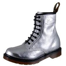 womens boots dr martens grey 1460 silver womens dr marten silver womens doc marten