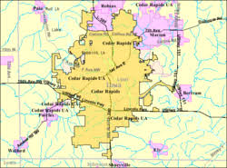 map of iowa towns cedar rapids iowa
