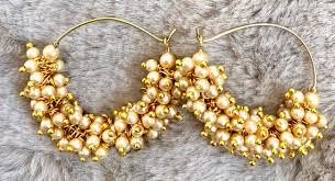 gold jhumka hoop earrings gold jhumka earrings indian jewelrybollywood earrings