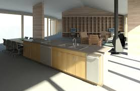 Meryland White Modern Kitchen Island Cart Arc Ii Project Renderings Ashelford Consulting
