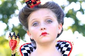 Kids Makeup For Halloween by Red Queen Queen Of Hearts Halloween Hairstyles Cute Girls