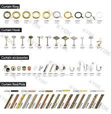 Drapery Rod Parts Kyok Curtain Rod Of Window Curtain Rod Parts Buy Kyok Curtain
