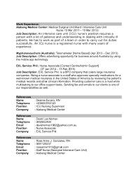 Icu Nurse Job Description Resume by Cvwhralph